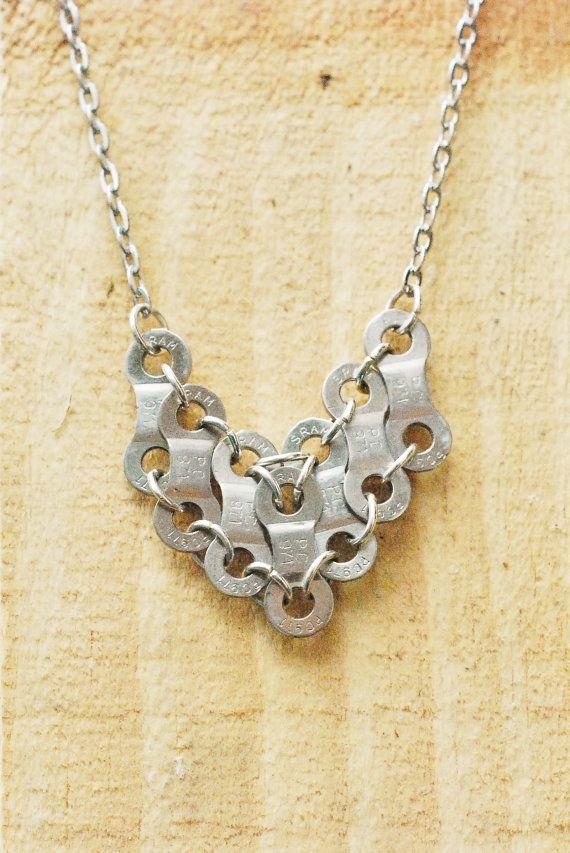 True Love Bike Chain Necklace