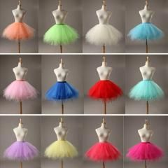 [ 28% OFF ] In Stock Multi Colored Short Petticoat  Tulle Crinoline 2016  Underskirt For Girl Cheap Wedding Accessories