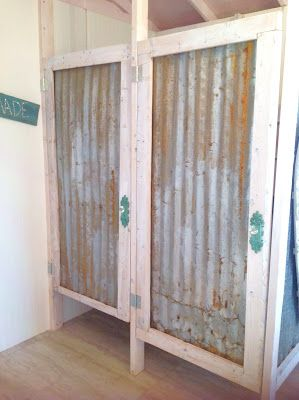 Blessed Oak Farm Bridal Suite rustic bathroom doors