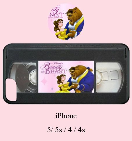 Hipster iphone case,beauty and the beast iphone case,cassette iphone case,vhs case,vhs case,disney iphone case,iphone case,iphone 5s,90s,5s on Etsy, $18.00 @Christina Allen