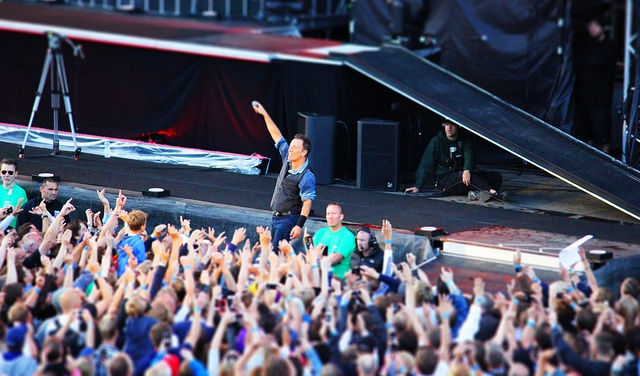 Bruce Springsteen på Valle Hovin. Photos by Bymiljøetaten, via Flickr