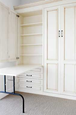 Small Space Solutions for Craft Rooms, Make One Room into Two Rooms with a Murphy Bed