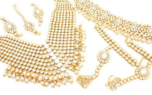 1896be9d6 Gold Silver Kundan Indian Bollywood Choker Mala Necklace Bridal Jewellery  Jewelry Tikka Set