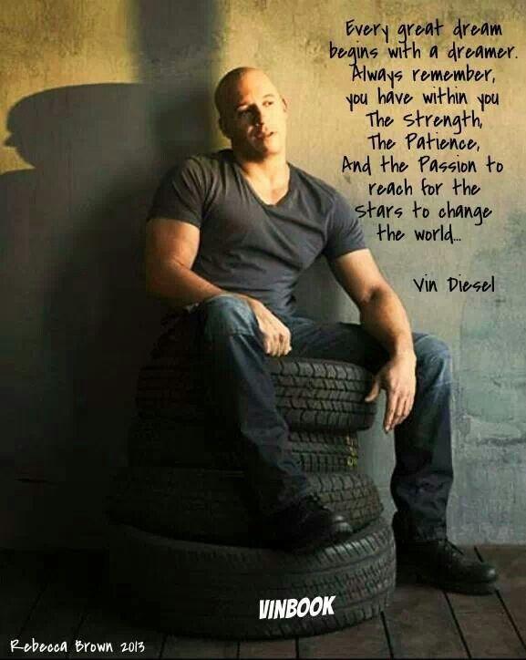 Vin Diesel | This and That | Vin diesel quotes, Vin diesel ...