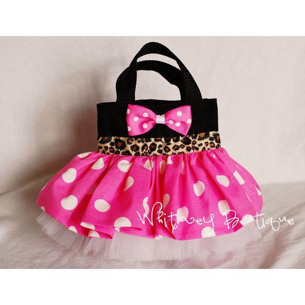 Pink Cheetah Minnie Mouse Tote Bag (13 AUD) ❤ liked on Polyvore featuring bags, handbags, tote bags, polka dot tote, pink purse, cheetah print tote bag, handbags totes and polka dot purse