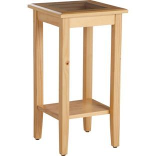 Buy telephone table pine and glass at your for Sofa table argos
