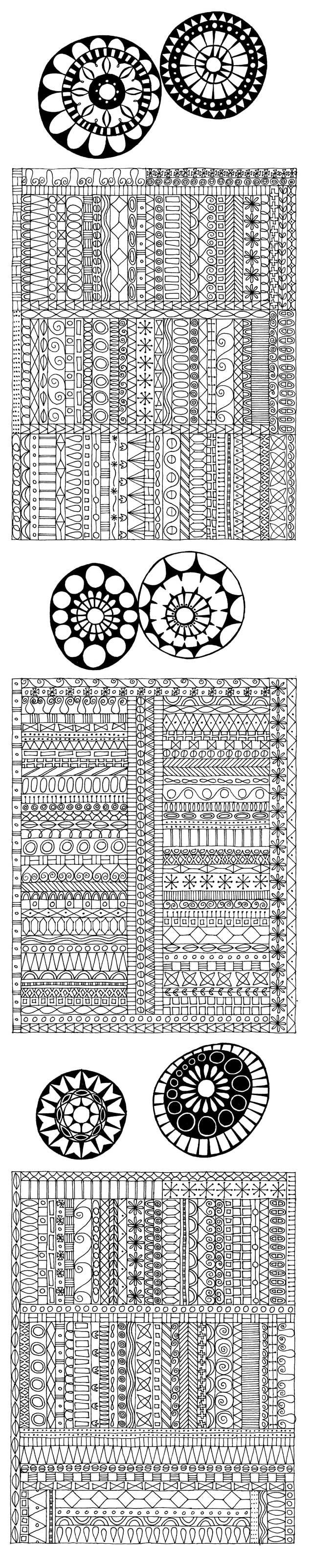 Awesome border sampler by Miriam Badyrka (The Doodler) - whether she meant to do that or not ;):
