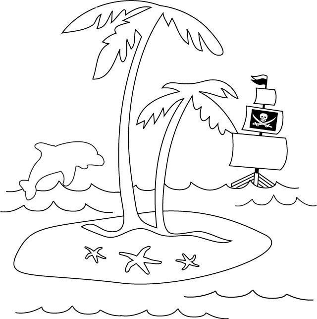 find this pin and more on pirates mermaids theme pirate island picture treasure island coloring page