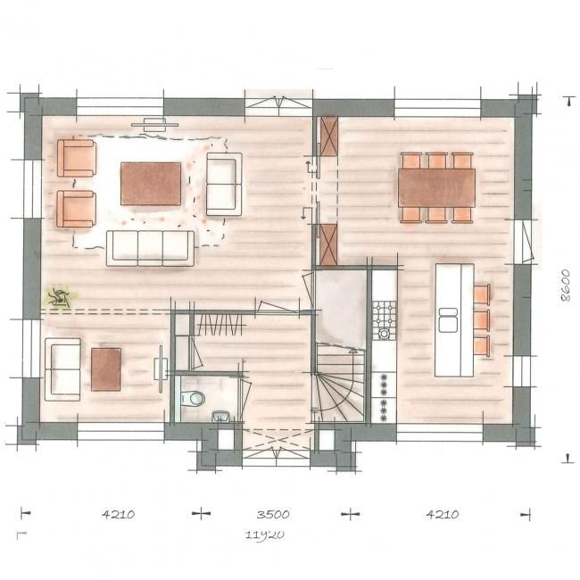 25 beste idee n over thuis plattegronden op pinterest huisplattegronden huis blauwdrukken en - Moderne buitenkant indeling ...