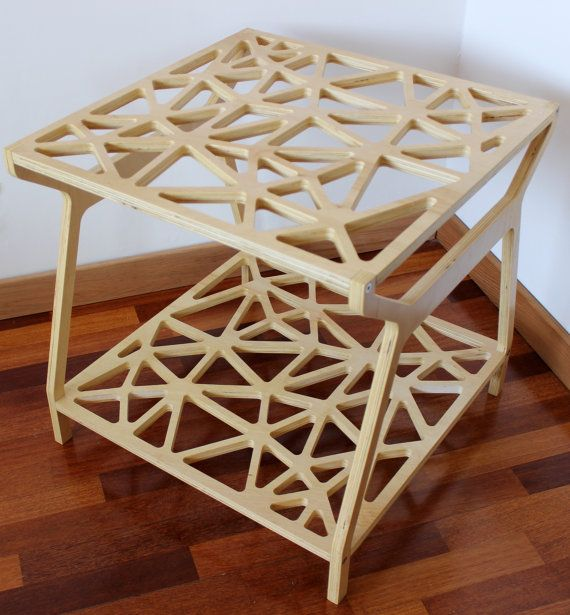Modern Table Plywood side table Think Table by rldh on Etsy