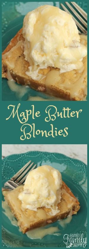 If you are looking for a dessert that will impress any guest, try Our Version of Applebee's Maple Butter Blondies. This is THE BEST dessert I have ever had!   via @favfamilyrecipz