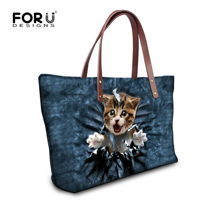 Fashion Larger Shoulder Bags for Travel Girls Kawaii Cat Dog Print Casual Tote Bag Women Outdoor Beach Handbags Bolsas Femininas - Top Kawaii - Best Online Kawaii Shop Top Kawaii - Best Online Kawaii Shop