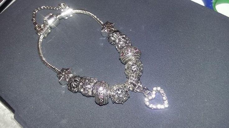 Bracelet argent charm cristal Swarovski