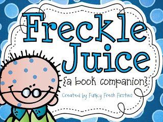 Freckle juice writing activities