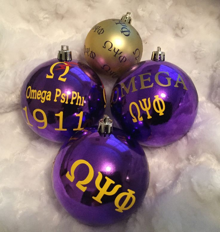 Gift Set of Fraternity Ornaments inspired by Omega Psi Phi 1911 by AddiCakeCreations on Etsy