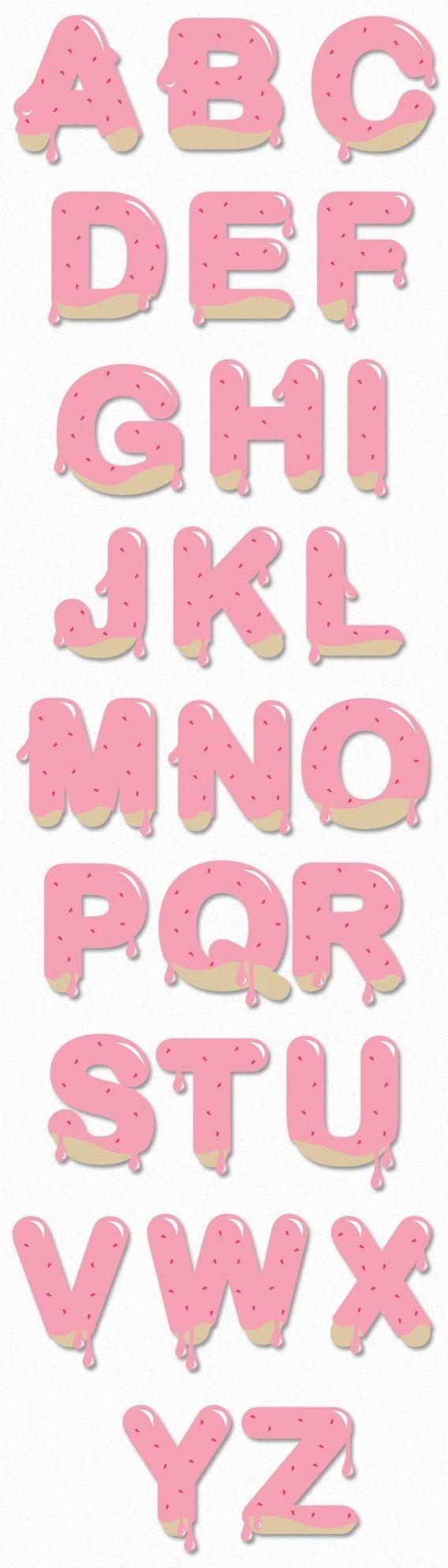 Strawberry Cookies Alphabet
