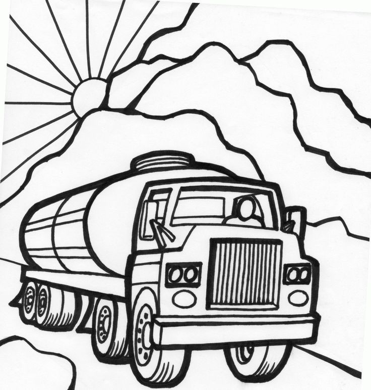 Tanker Truck Coloring Page Truck Coloring Pages Cars Coloring Pages Monster Truck Coloring Pages