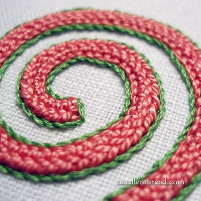 Plaited Braid Stitch from Needle 'n Thread - video and printable instructions for this gorgeous stitch!