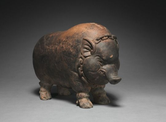 Title: Piggy Bank Date: 14th-15th cnetury Origin: Java, Majapahit Dynasty Medium: Terracotta Size: h. 24.20 cm (9 ½ inches) Source: Cleveland Museum of Art