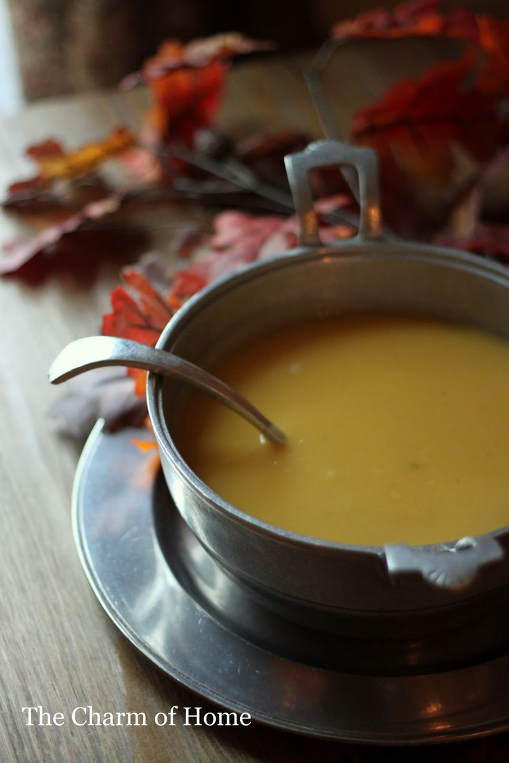 Butternut Bisque- butternut squash and apple soup