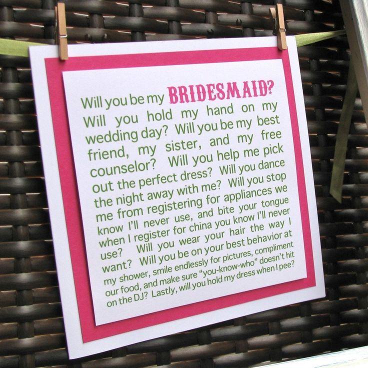 Bridesmaid...Love This!!: Girls, Bride Maids, Best Friends, Cute Ideas, Bridesmaid Gifts, Bridesmaid Ideas, Friends Wedding, Be My Bridesmaid, Ask Bridesmaid