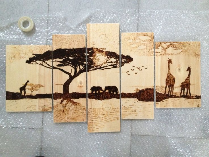 My Pyrography project: 5 pieces set A birthday gift to my cousin on Poplar plywood. A merge of a bunch of different works and then I added some more to it: https://www.pinterest.com/pin/388083692864986914/ https://www.pinterest.com/pin/388083692864986918/