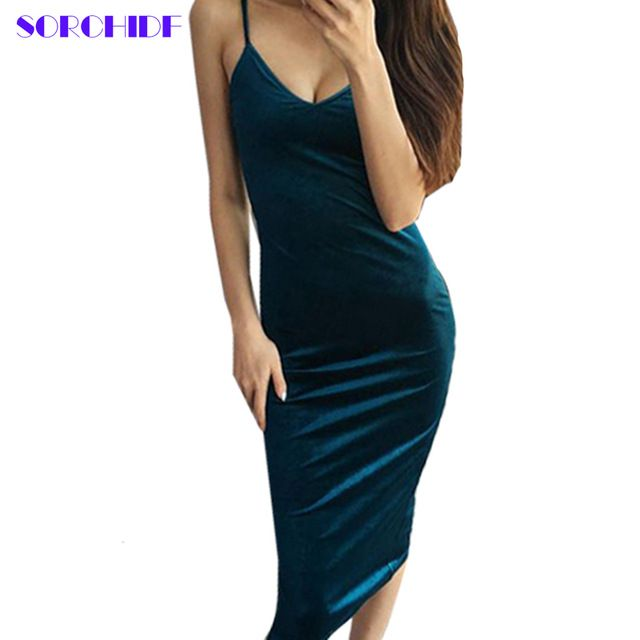 Today Offer $8.99, Buy SORCHID Sexy Velvet Dress High Quality Dress V-neck Dresses Bodycon Brand Designer Clothes Brief Style Vestido Bandage Dress