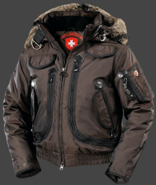Wellensteyn Rescue Jacket, RainbowAirTec, Coffee/Schwarz