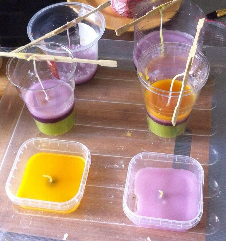 Kaarsen maken, kaarsen, DIY, knutselen, restjes