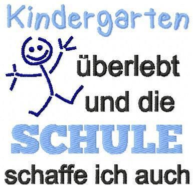 Kindergarten überlebt 13x18 *Freebie* - TamElia Stickdesign