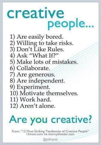 Are you creative? #creative #entrepreneur #tendencies