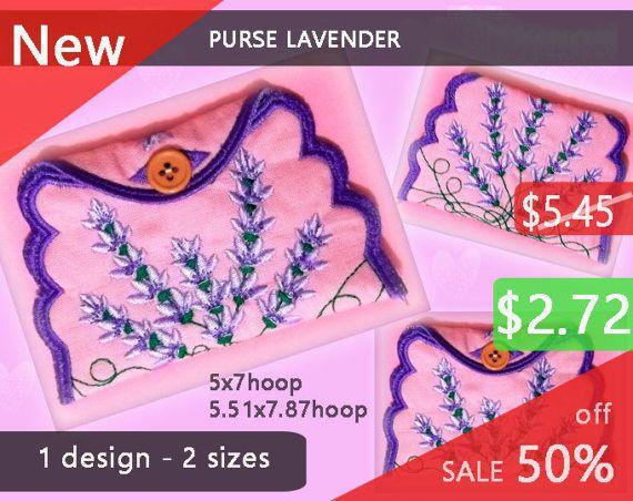 Purse Lavender No.271  wallet design  by EmbroideryRady on Etsy