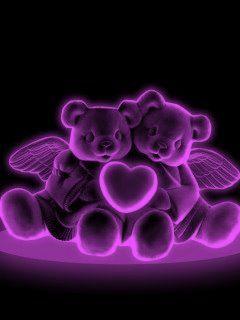 Teddybear Angels, heart, colors Oh My