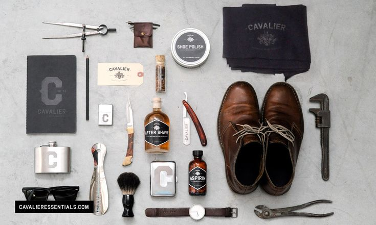 cavalier essentials: Man Stuff, Men Stuff, Men Gifts, Men Style, Men Accessories, Cavalier Essential, Graphics Design, Steve Mcqueen, Duffle Bags