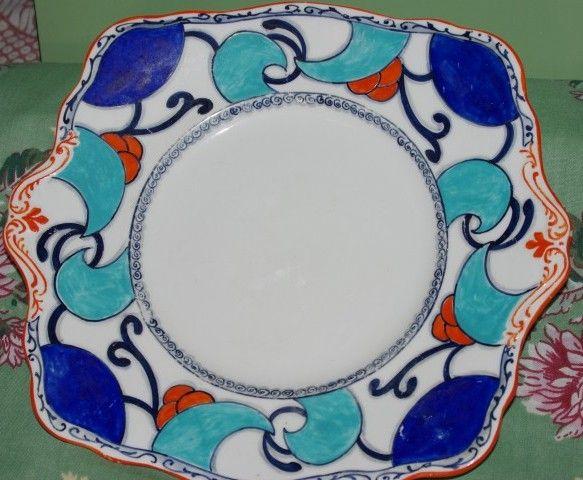 Clarice Cliff look Plate..available www.vintagemoi.com.au