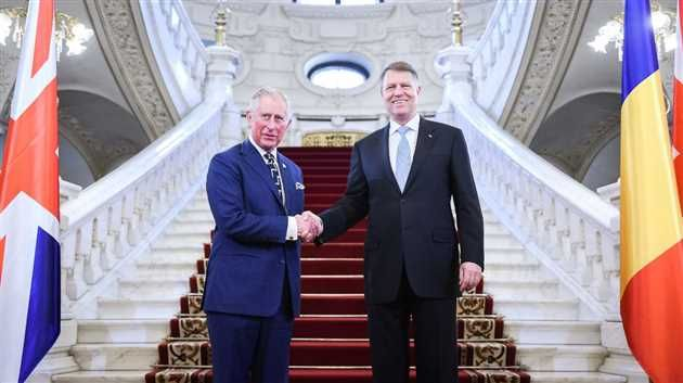 Presedintele Klaus Iohannis l-a primit miercuri la Palatul Cotroceni pe Printul Charles al Marii Britanii aflat in prima vizita oficiala in Romania din 1998