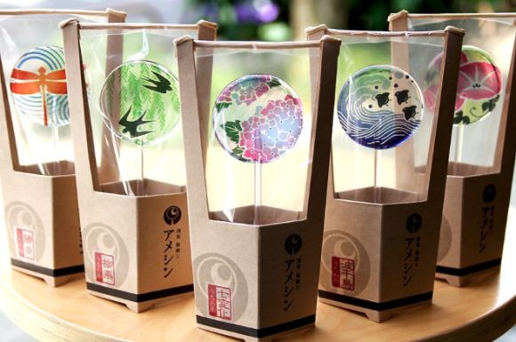 Japanese candy craftsman creates new line of lollipops with traditional summerthemes