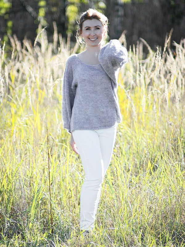 Mouse Grey Oversize / Cozy and delicate, lovely grey