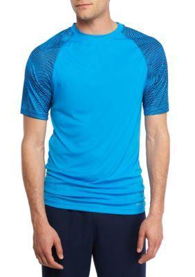 SB Tech Blue Short Sleeve Printed Tee Shirt