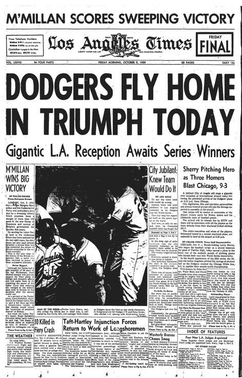 The Dodgers win the World Series!