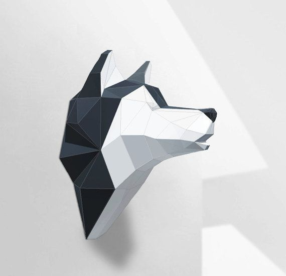 Wolf Sculpture Husky Papercraft Make your own paper by PolySheet