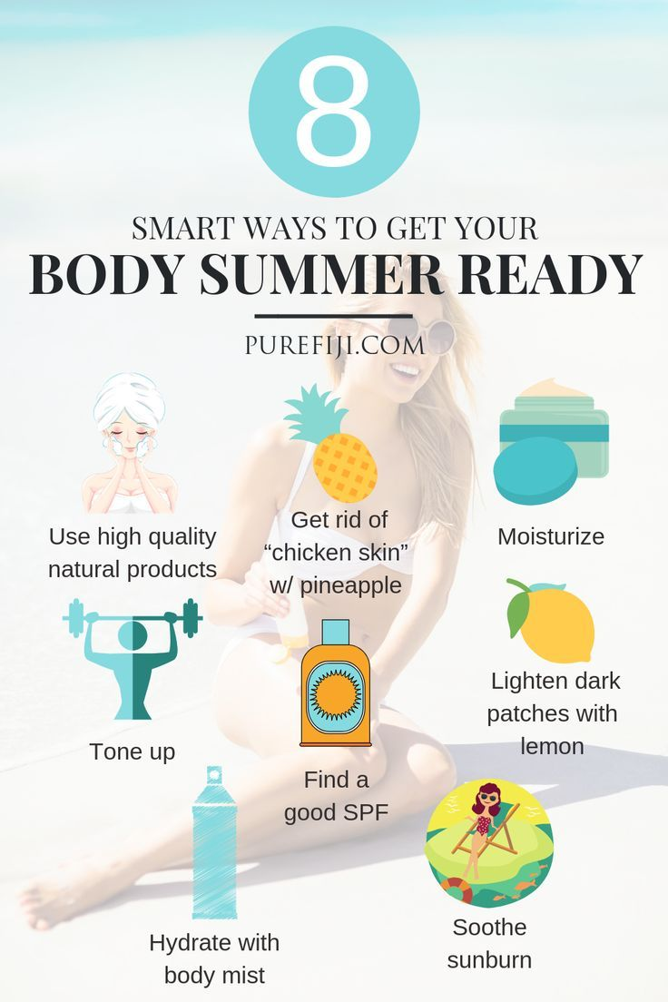 9 Smart Tips To Get Your Body Summer Ready Forehead Wrinkles Lightening Skin Care
