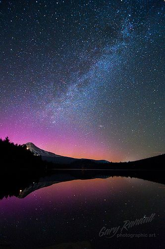 Aurora Over Mount Hood