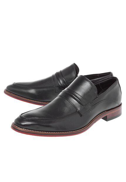 Sapato Social Ferracini Recorte Preto - Marca Ferracini