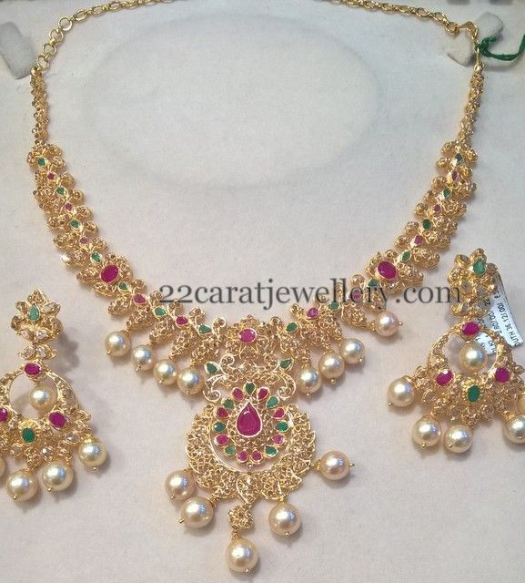 uncut diamond hyderabad necklace india at uploadview south jewellers jewellery by