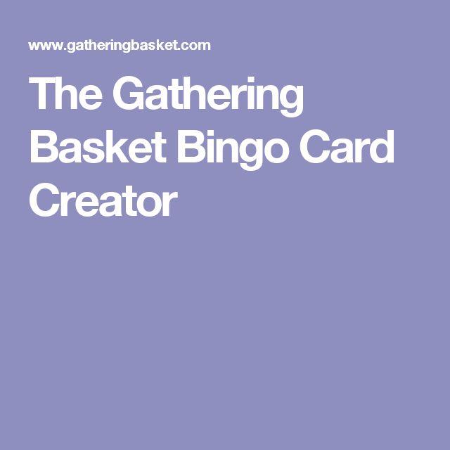 The Gathering Basket Bingo Card Creator
