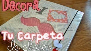 decorar carpetas escolares adolescentes - YouTube