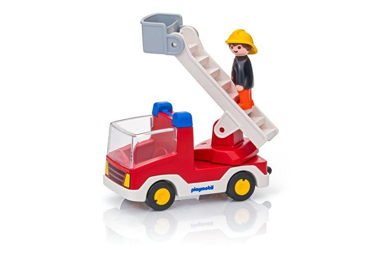 Camion de pompier avec échelle pivotante  - 6967 -  PLAYMOBIL® France