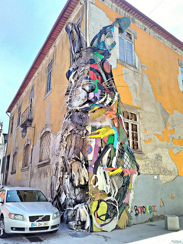 street art in Vila Nova de Gaia by Bordalo II