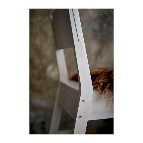NORRÅKER Stol, vit björk